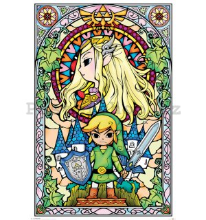 Plakát - The Legend Of Zelda (Stained Glass)
