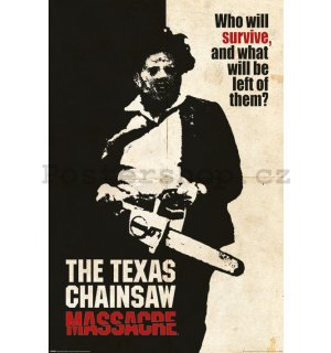 Plakát - Texas Chainsaw Massacre (Who Will Survive?)